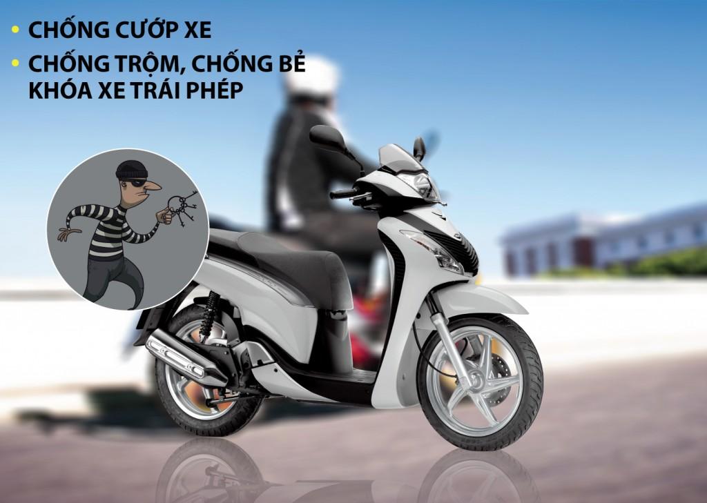 thiết bị chống trộm xe máy qua điện thoại