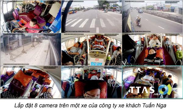 Hình ảnh thực tế từ camera trên xe khách truyền về qua mạng 4G