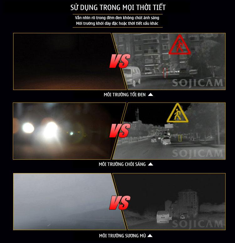 Camera hành trình tầm nhiệt, camera chống sương mù, camera nhìn đêm, Camera hành trình 4G tầm nhiệt chống sương mù
